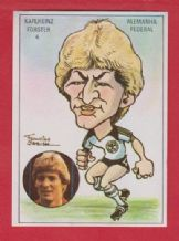 West Germany Karl Heinz Forster Stuttgart 4